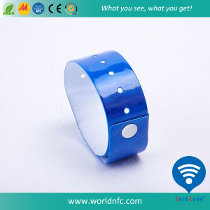 Wide Face Shape Adult Size Waterproof PVC Wristband pictures & photos