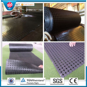 Drainage Hollow Used Grass Rubber Mat pictures & photos