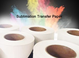 "Best Sale 66GSM 52""Anti-Curl Fast Dry Sublimation Jumbo Roll Transfer Paper for Ms-Jp High Speed Printer Factory Supplier pictures & photos"