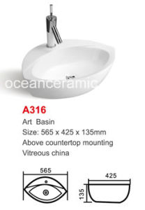 Irregular Art Basin Ceramic Lavabo (No. A316) Sanitary Ware pictures & photos