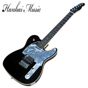 Hanhai Music / Tele Style Black Electric Guitar with Basswood Body pictures & photos