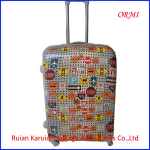 Transportation Marks Printed ABS PC Luggage pictures & photos