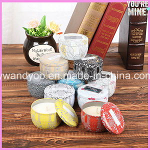 Portable Scented Soy Tin Candle with Metal Lid for Christmas