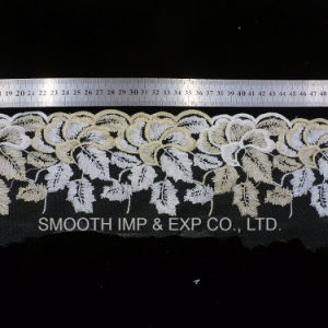 High Quality Clothing Accessories Net Yarn Embroidery Lace Fabric Textile pictures & photos