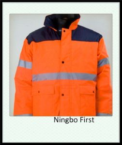 High Visibility Reflective Parka Jacket Meet En (DFJ1009) pictures & photos