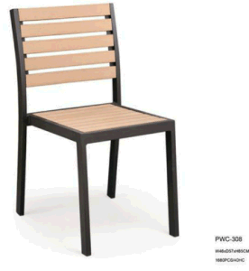 Outdoor Furniture and Aluminum Plastic Wood Dining Chair (pwc-15091) pictures & photos
