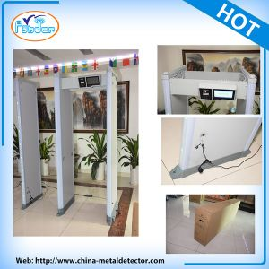 Multi-Zone 45 Detecting Zone Touch Screen Walk Through Metal Detector pictures & photos
