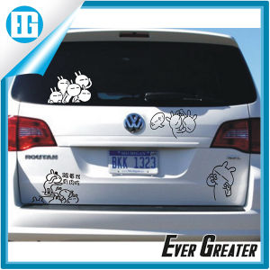 Cartoon Characters Cute Car Window White Waterproof Sticker pictures & photos