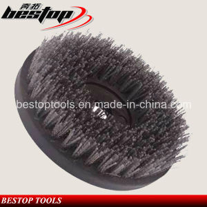 D200mm Round Shape Silicon Carbide and Steel Mixed Brush pictures & photos