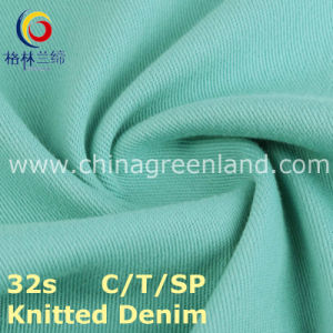 Knitted Denim Cotton Polyester Spandex Twill Fabric for Garment Textile (GLLML215) pictures & photos