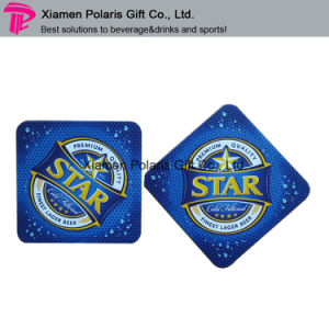 Customized Square Felt Coaster with Cmyk Star Printing pictures & photos