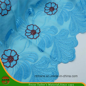Embroidery Polyester Fabric for Garment (HAEF160001) pictures & photos
