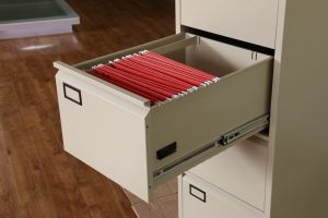 High Quality Galvanized Slider 4 Drawer File Storage Cabinet pictures & photos