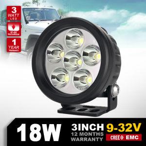 New Model 3′′ Inch Round 18W 12V Work Light LED Work Light