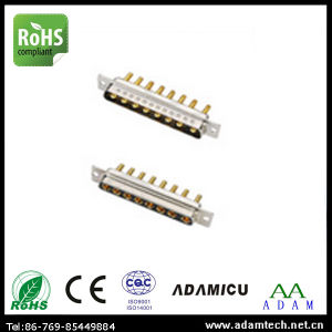 Electronical Power D -Sub 8W8 Solder Type Connector