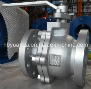 JIS 10K Cast Iron Ball Valve Floating Full Bore pictures & photos