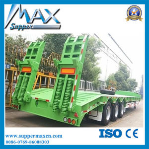 Cheap Price 3 Axles 2*20FT 40FT Truck Flatbed Container Semi-Trailer / 50 Ton 40 Feet Flat Bed Container Trailer pictures & photos
