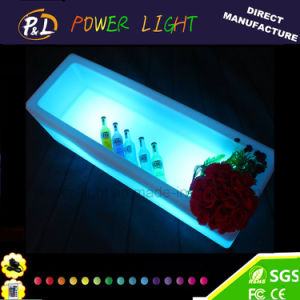 Plastic Rechargeable Bar Furniture LED Rectangular Ice Bucket pictures & photos