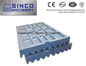Crusher Wearing Spare Parts Jaw Plate for Shanbao Metso