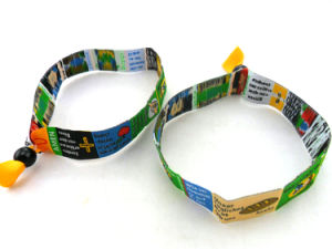 Promotional Cheap Custom Festival Woven Wristband pictures & photos