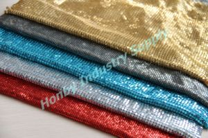 Honby Supply Aluminum Metal Sequin Curtain or Clothes Decoration Cloth (P160728B) pictures & photos