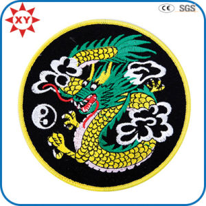 Factory Supply Custom Dragon Embroidered Badges pictures & photos