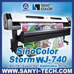 1.8m Wj-740 Digital Textile Printer with Epson Dx7 Head pictures & photos