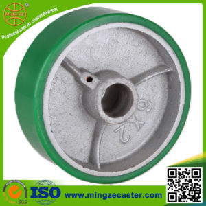 Heavy Duty Roller Bearing Polyurethane Cast Iron Wheel pictures & photos