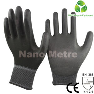 Nmsafety 13 Gauge White Polyester PU Coated Safety Glove pictures & photos