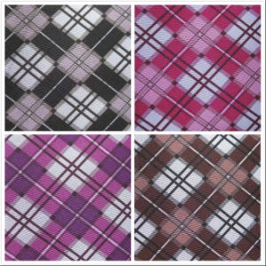 600d Oxford Classical Grids Printing Polyester Fabric with PVC pictures & photos