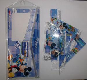 4 PCS Ruler Set 15cm Ruler Set PVC Bag Ruler Set Geometry Set Student Ruler pictures & photos