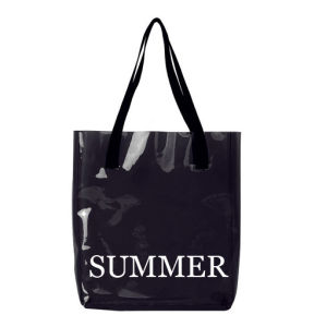 Promotion Clear PVC Candy Color Beach Bag Tote Handbag pictures & photos