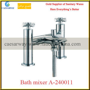 Bathroom Brass Twin Water Basin Sink Tap pictures & photos