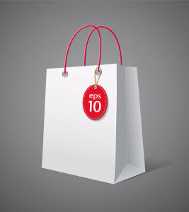 White Paper Shopping Bags with Custom Logos pictures & photos