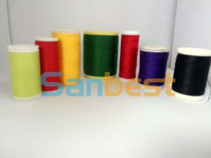 Colorful Spun Polyester Sewing Thread on Small Reels pictures & photos
