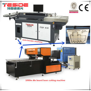 High Power 1000W Die Board Laser Cutting Machine for MDF Cutting