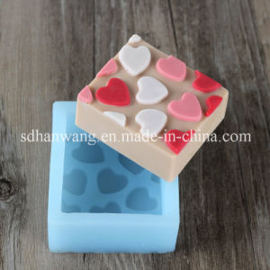 R0230 Sweet Hearts Soap Silicone Mold Square Shape