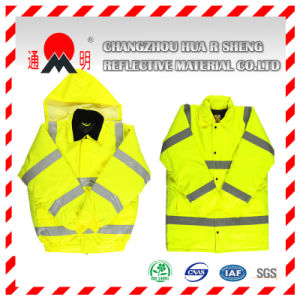 Red Reflective Vest with Reflective Strips (vest-1) pictures & photos