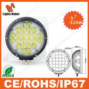 4D LED Light 9 Inch 120W Spot Beam Offroad LED Car Light SUV Monster Truck Forklift LED Light