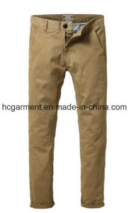 Long Casual Cargo Slim Cotton Chino Twill Pants for Man pictures & photos