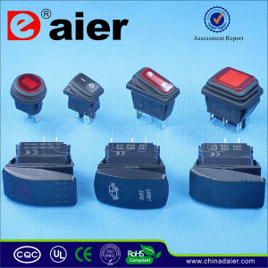 Illuminated 12V/220V Red Waterproof Rocker Switch pictures & photos