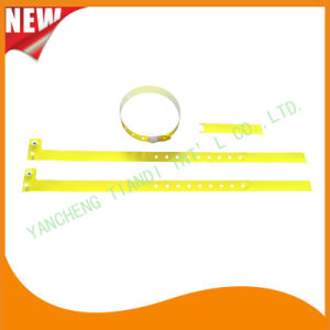 Hospital Plastic ID Wristband Bracelet Bands with Tail (8060-19) pictures & photos