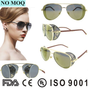 2016 Women Stainless Steel Ce Sunglasses Fashion Goggles Sunglasses pictures & photos
