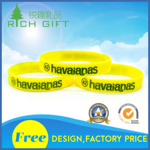 Custom High Quality Fine Environmental Printed Silicone Bracelet for Individual pictures & photos