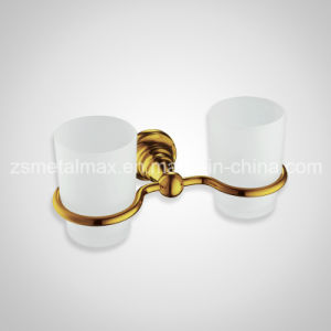 Stainless Steel Bathroom Wall Mounted Double Glass Cup Holder (BT004) pictures & photos