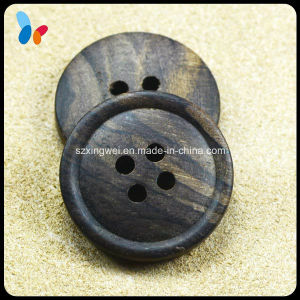 High End Laser Wood Garment Button with Small Round Edge pictures & photos