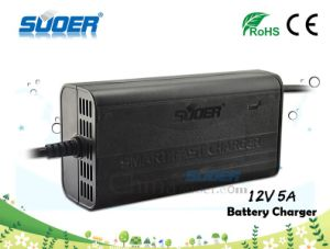 Suoer Low Price 12V 5A Universal Portable Mini Car Battery Charger with CE RoHS (SON-1205B) pictures & photos