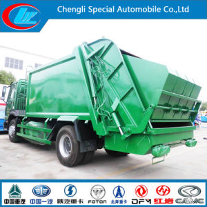 New Condiiton HOWO 4*2 Rear Garabage Compactor Truck for Sale pictures & photos
