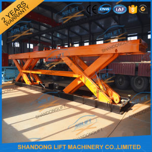 10t Heavy Duty Stationary Hydraulic Scissor Lift Table pictures & photos