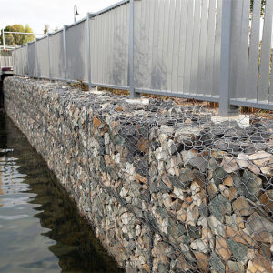 High Strength Galfan Gabion Retaining Wall Made in China pictures & photos